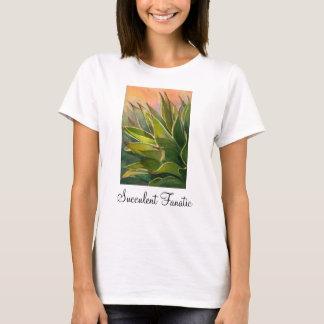 Camiseta fanática suculenta del agavo, señoras