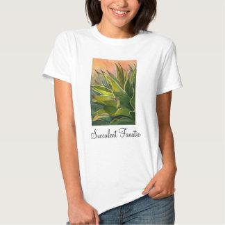 Camiseta fanática suculenta del agavo, señoras polera
