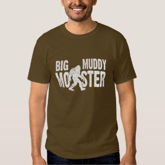 Camiseta fangosa grande del monstruo camisas
