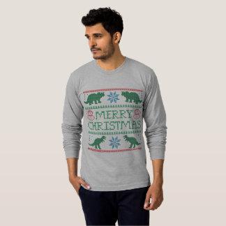 Camiseta fea de manga larga del navidad del