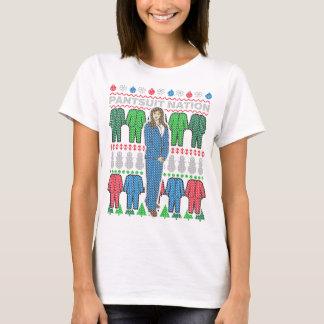 Camiseta fea del suéter del navidad de la nación