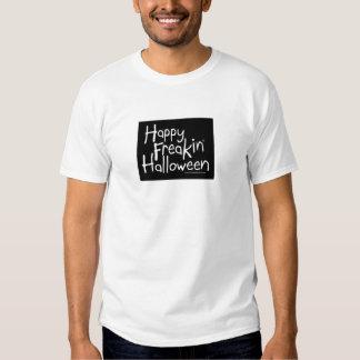 Camiseta feliz de Freakin Halloween Playera