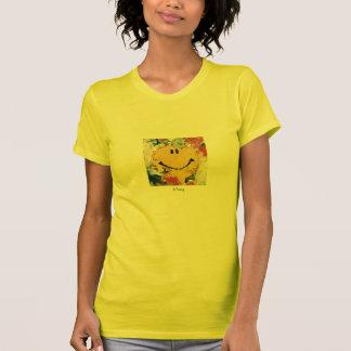camiseta feliz de la cara del expresionista
