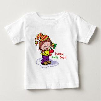 Camiseta feliz de los días del acebo