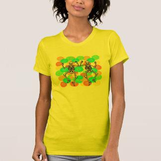 Camiseta feliz de los esqueletos de Dia De Los Playera
