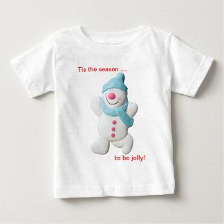 Camiseta feliz de los niños del navidad de la playera