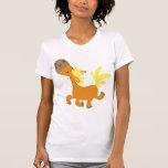 Camiseta feliz de Pony Mujer del dibujo animado Playeras