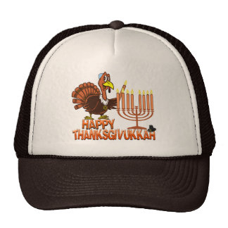 Camiseta feliz de Thanksgivukkah - de Thankgiving  Gorro De Camionero