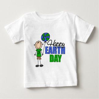 Camiseta feliz del bebé del Día de la Tierra Remera