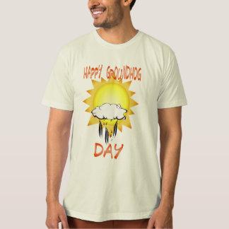 Camiseta feliz del día de la marmota playeras