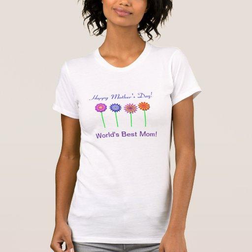 Camiseta feliz del día de madre para la mejor mamá
