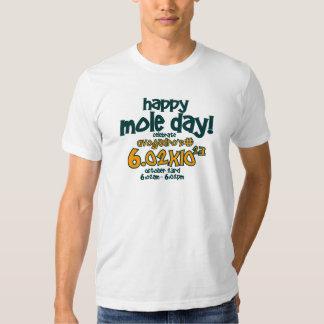 ¡Camiseta FELIZ del DÍA del TOPO! (el número de Polera