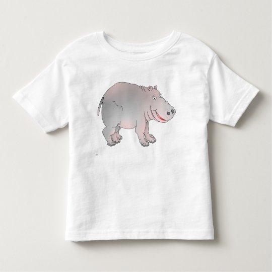 Camiseta feliz del hipopótamo