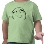Camiseta feliz del niño de la rabia
