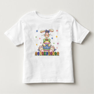 Camiseta feliz del niño del conejito de pascua
