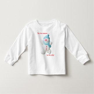 Camiseta feliz del niño del navidad de la novedad playera