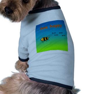 Camiseta feliz del perro de la abeja camisas de perritos