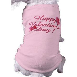 Camiseta feliz del perro del el día de San Valentí Camisetas De Perro