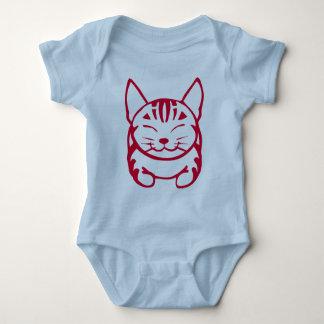 Camiseta feliz infantil del gato (tabby rojo) remera