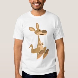 Camiseta feliz linda de los niños del canguro del polera