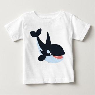 Camiseta feliz linda del bebé de la orca del remeras