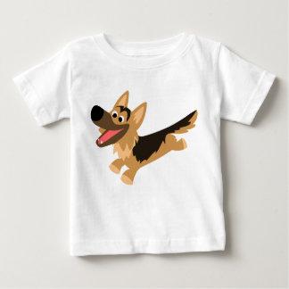 Camiseta feliz linda del bebé del pastor alemán remera