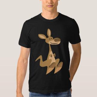 Camiseta feliz linda del canguro del dibujo playera