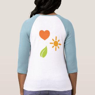 Camiseta feliz sana de la vida