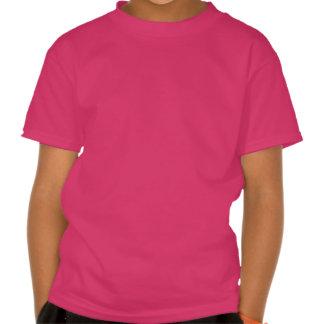Camiseta femenina 4 del rosa de los chicas de la c playeras