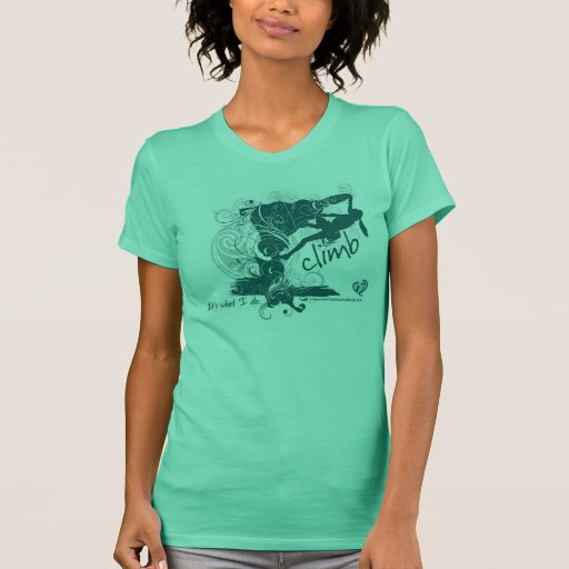 Camiseta femenina de la escalada
