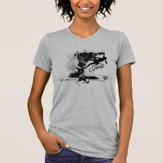 Camiseta femenina de la escalada playeras