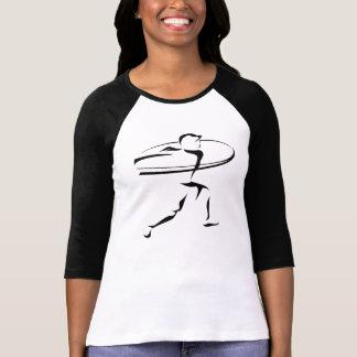 Camiseta femenina de la mujer del estilo del remeras