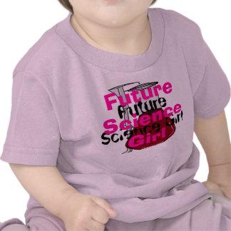 Camiseta femenina de Sci de la ciencia del chica d