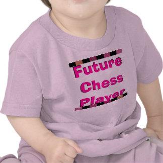 Camiseta femenina del ajedrez de ajedrez del jugad
