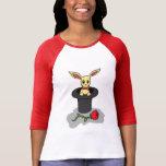 Camiseta femenina del conejo