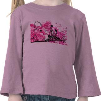 Camiseta femenina del pequeño diablo lindo