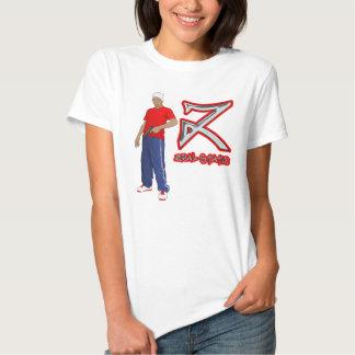 Camiseta femenina estática del celo camisas