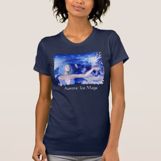 Camiseta femenina humana de la oscuridad de Mage Polera