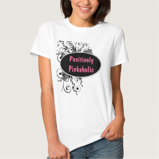 Camiseta femenina positivamente rosada playeras