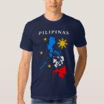 camiseta filipina del mapa polera