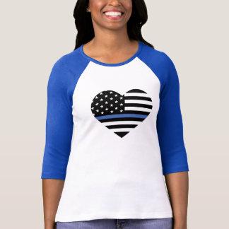 Camiseta fina de la bandera americana de Blue Line