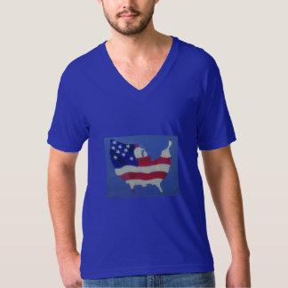 Camiseta fina del cuello en v del jersey