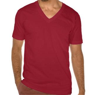 Camiseta fina del cuello en v del jersey de