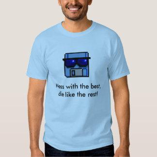Camiseta floja del pirata informático del vintage poleras