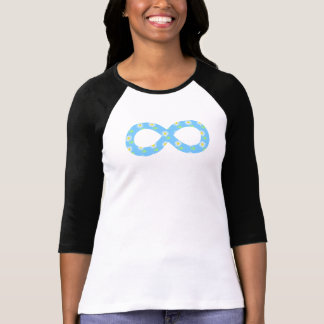 Camiseta floral bonita del azul de cielo del playera