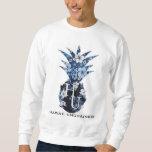 Camiseta floral de Crewneck del logotipo Suéter