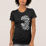Camiseta floral del diseño del Grunge