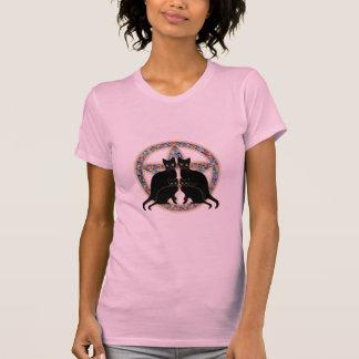Camiseta florecida de la magia de Wicca de los Polera