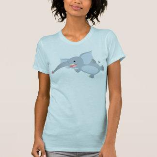 Camiseta flotante de las mujeres del elefante del