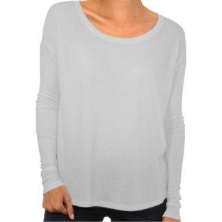 camiseta flowy de la manga larga del escote poleras